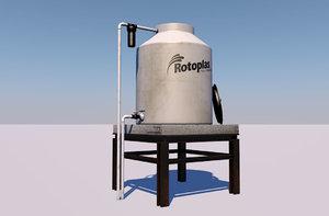 water tank tinaco 3D model
