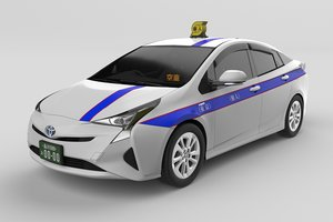 3D japanese driver taxi