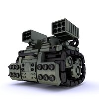 armor tank turret 3D