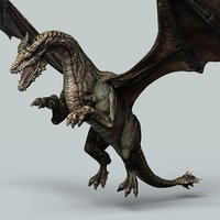 armored battle dragon - model