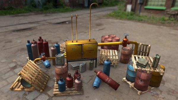 barrel metal 3D