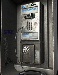 3D new york payphone