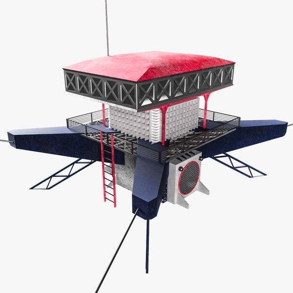 high-tech building 0 2 model