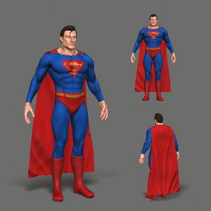 3D character superman model