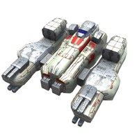 space corvette fighter 3D model