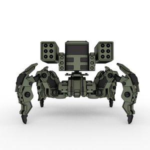 3D mechanic spider destroyer