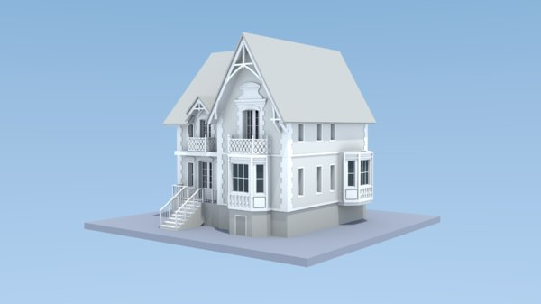 3D victorian house manor insides