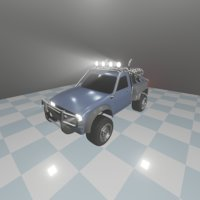 3D model offroad rigged modified