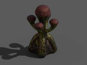 alien flora 3D model