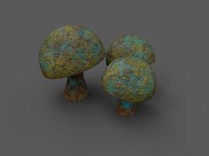 3D model alien flora