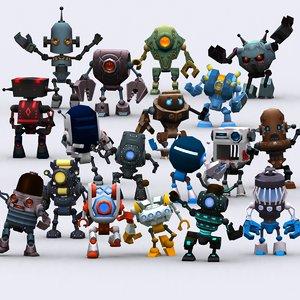 3D chibii robots - model