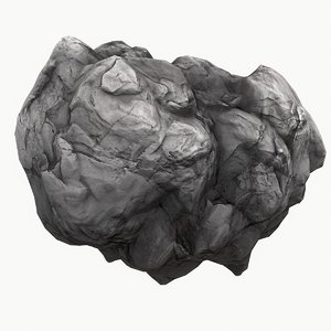 meteor asteroid rock 4k model