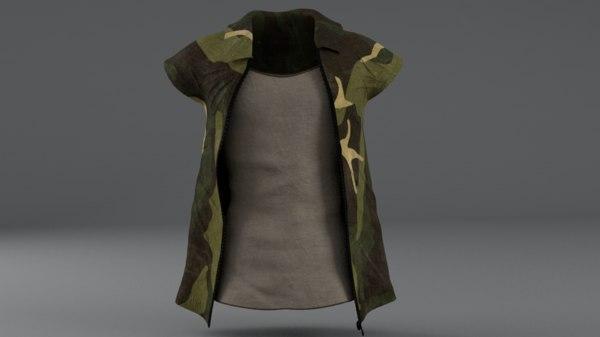 3D clothing set model