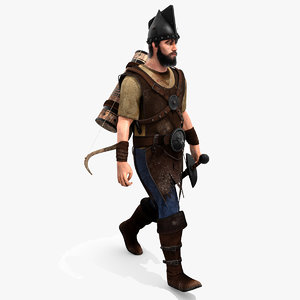 3D archer hair rigging animation