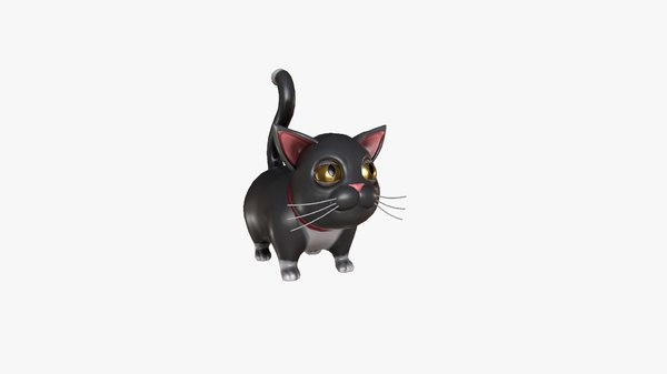 stylized cartoon black fat 3D