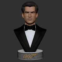 007 pierce brosnan bust 3D model