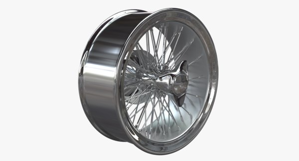 3D car alloy rim spokes