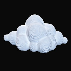 decorative cloud 3D
