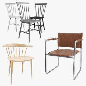 3D armchair 01 chair model