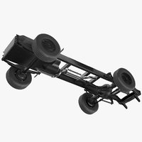 simple truck frame chassis model