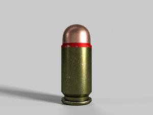 soviet russian pistol cartridge 3D model