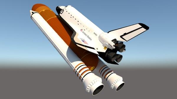 shuttle atlantis 3D