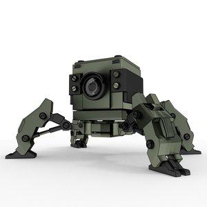 mini cube bot 3D model