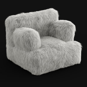 3D wool winter fox faux-fur