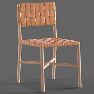 globewest seed woven leather chair 3D model