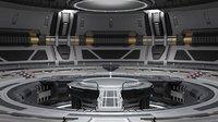 Sci-fi Scene for rendering - TESLA
