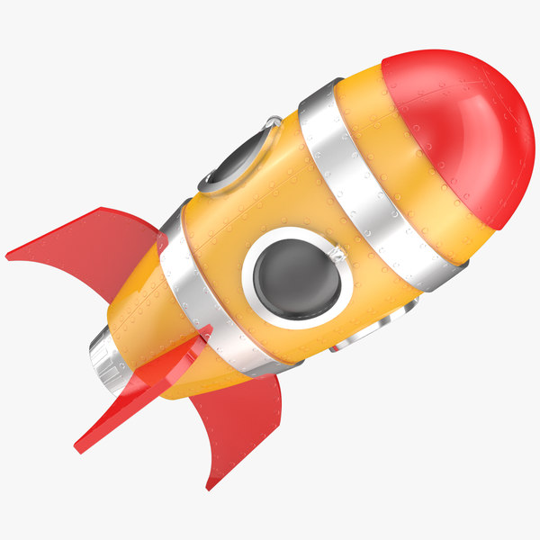 3D cartoon rocket