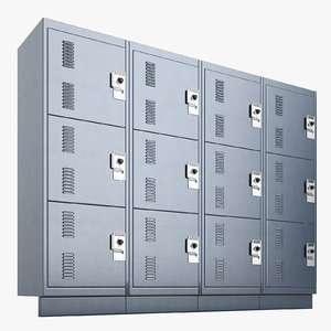 3D deployable storage lockers model