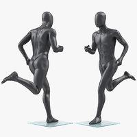 male dark grey mannequin 3D model