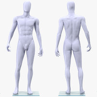 male mannequin man rigged 3D model