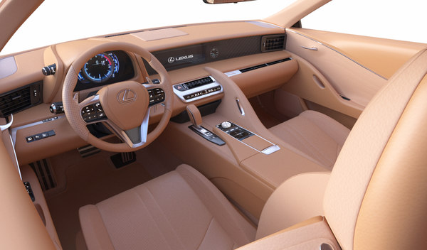 3d Lexus Car Interior Turbosquid 1435575