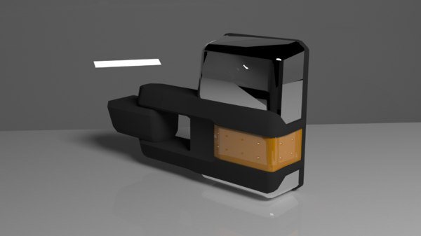 heavy duty truck mirror 3D model