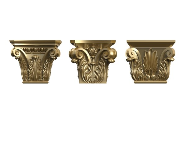 set square column capitals 3D model