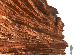 morocco red cliff 3D