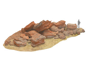 morocco red rock 16k 3D model