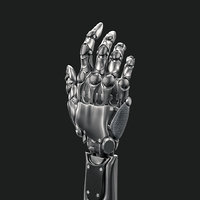 cybernetic robotic hand - 3D model