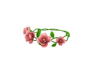 floral crown model