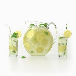 3D lemonade jug