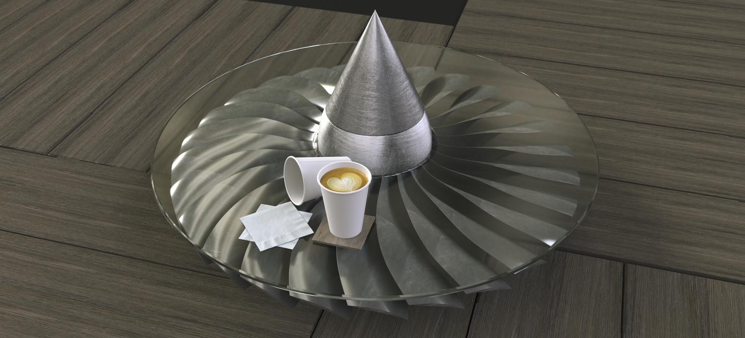 turbofan coffee table model