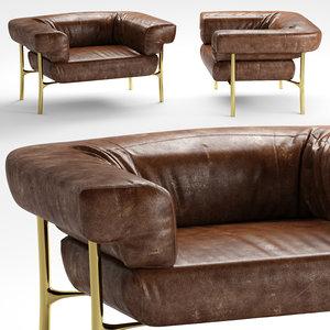 3D ghidini 1961 katana armchair
