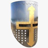 crusader helmet 3D
