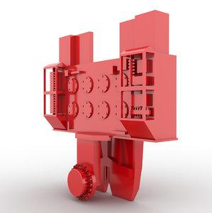 3D vibro hammer model
