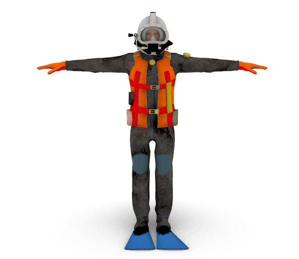 3D commercial diver model