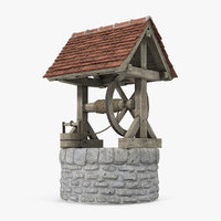 3D medieval stone water