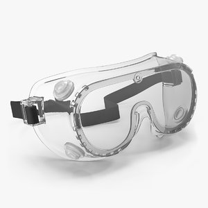 3D scientific safety goggle model