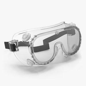 3D scientific safety goggle model